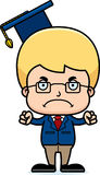 Cartoon Angry Teacher Boy Stock Photo
