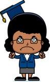 Cartoon Angry Teacher Girl Royalty Free Stock Photo