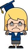 Cartoon Angry Teacher Girl Stock Images