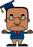 Cartoon Angry Teacher Man Royalty Free Stock Image