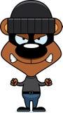 Cartoon Angry Thief Bear Stock Image