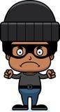 Cartoon Angry Thief Boy Royalty Free Stock Photography