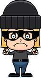 Cartoon Angry Thief Girl Royalty Free Stock Images