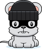 Cartoon Angry Thief Mouse Royalty Free Stock Images