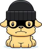 Cartoon Angry Thief Puppy Royalty Free Stock Photos