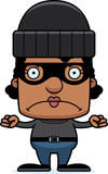 Cartoon Angry Thief Woman Royalty Free Stock Images