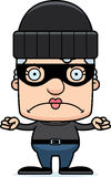 Cartoon Angry Thief Woman Stock Images