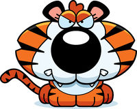 Cartoon Angry Tiger Cub Royalty Free Stock Photography