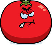 Cartoon Angry Tomato Stock Photography