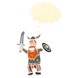 Cartoon angry viking Stock Image