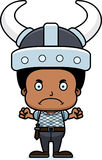 Cartoon Angry Viking Boy Stock Image