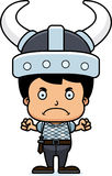 Cartoon Angry Viking Boy Royalty Free Stock Photo