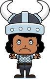 Cartoon Angry Viking Girl Royalty Free Stock Photos