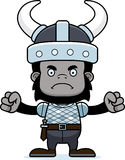 Cartoon Angry Viking Gorilla Royalty Free Stock Photo