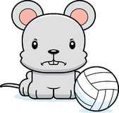 Cartoon Angry Volleyball Player Mouse Stock Image