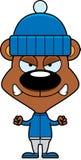 Cartoon Angry Winter Bear Stock Photos