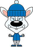 Cartoon Angry Winter Bunny Royalty Free Stock Images