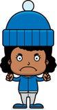 Cartoon Angry Winter Girl Royalty Free Stock Photos