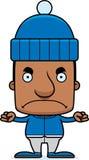 Cartoon Angry Winter Man Stock Photography