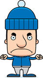 Cartoon Angry Winter Man Royalty Free Stock Images