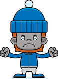 Cartoon Angry Winter Orangutan Royalty Free Stock Images