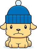 Cartoon Angry Winter Puppy Royalty Free Stock Photos