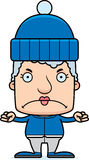 Cartoon Angry Winter Woman Stock Images
