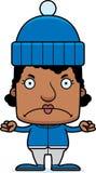 Cartoon Angry Winter Woman Stock Photography