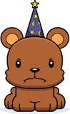 Cartoon Angry Wizard Bear Royalty Free Stock Photo