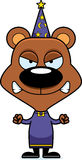 Cartoon Angry Wizard Bear Royalty Free Stock Images
