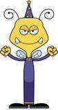 Cartoon Angry Wizard Bee Royalty Free Stock Image