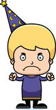 Cartoon Angry Wizard Boy Stock Photos