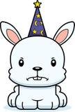 Cartoon Angry Wizard Bunny Stock Photo