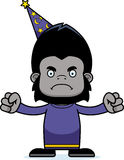 Cartoon Angry Wizard Gorilla Royalty Free Stock Image