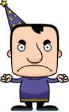 Cartoon Angry Wizard Man Royalty Free Stock Image