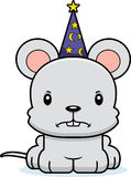 Cartoon Angry Wizard Mouse Royalty Free Stock Image