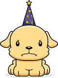 Cartoon Angry Wizard Puppy Royalty Free Stock Image