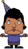 Cartoon Angry Wizard Woman Stock Photos