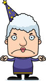 Cartoon Angry Wizard Woman Stock Photography