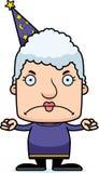 Cartoon Angry Wizard Woman Stock Photography