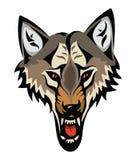 Cartoon angry wolf head Stock Photography