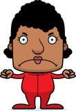 Cartoon Angry Woman In Pajamas Stock Image