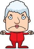 Cartoon Angry Woman In Pajamas Royalty Free Stock Photography