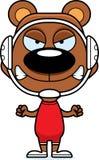 Cartoon Angry Wrestler Bear Royalty Free Stock Photography