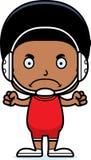 Cartoon Angry Wrestler Boy Royalty Free Stock Photo
