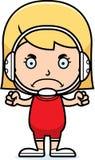 Cartoon Angry Wrestler Girl Stock Image