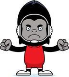Cartoon Angry Wrestler Gorilla Stock Image