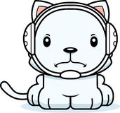 Cartoon Angry Wrestler Kitten Royalty Free Stock Image