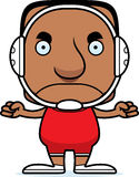 Cartoon Angry Wrestler Man Royalty Free Stock Photography