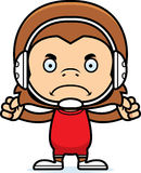 Cartoon Angry Wrestler Monkey Royalty Free Stock Image